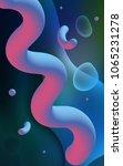 dark blue vertical template... | Shutterstock . vector #1065231278