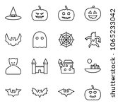 flat vector icon set   witch... | Shutterstock .eps vector #1065233042