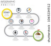 timeline infographic road map... | Shutterstock .eps vector #1065234512