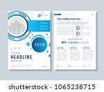 annual report  broshure  flyer  ... | Shutterstock .eps vector #1065238715