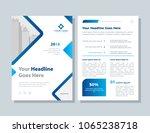 annual report  broshure  flyer  ... | Shutterstock .eps vector #1065238718