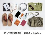 men's casual outfits with... | Shutterstock . vector #1065241232