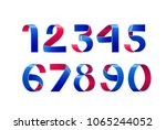 vector of paper folding numbers.... | Shutterstock .eps vector #1065244052