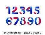 vector of paper folding numbers.... | Shutterstock .eps vector #1065244052