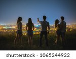 the people on the mountain... | Shutterstock . vector #1065244922