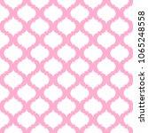 Pink Quatrefoil Lattice Patter...