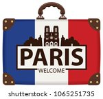 vector travel banner with... | Shutterstock .eps vector #1065251735