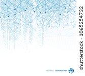 abstract technology digital...   Shutterstock .eps vector #1065254732