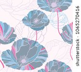 seamless pattern with flowers...   Shutterstock .eps vector #1065270416