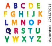kids alphabet set  colorful... | Shutterstock .eps vector #1065270716
