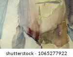 abstract watercolor painted... | Shutterstock . vector #1065277922