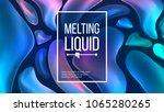 fluid liquid background vector. ... | Shutterstock .eps vector #1065280265