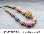 necklace made from knitted... | Shutterstock . vector #1065286136
