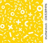 yellow geometric vector pattern.... | Shutterstock .eps vector #1065289496