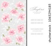 wedding card or invitation with ...   Shutterstock .eps vector #1065294185