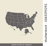 united states of america map... | Shutterstock .eps vector #1065295292