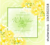 wedding card or invitation with ...   Shutterstock .eps vector #1065302318