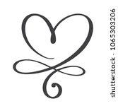 heart love sign forever.... | Shutterstock . vector #1065303206