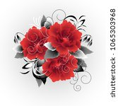 wedding card or invitation with ...   Shutterstock .eps vector #1065303968