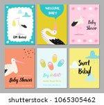 Baby Shower Cards Set. Newborn...