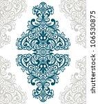 vector vintage baroque border... | Shutterstock .eps vector #106530875