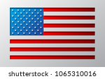 the us flag is carved from... | Shutterstock .eps vector #1065310016