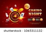 golden text casino night with... | Shutterstock .eps vector #1065311132