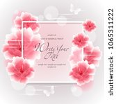 wedding card or invitation with ...   Shutterstock .eps vector #1065311222