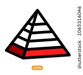 maslow pyramid symbol. icon of... | Shutterstock .eps vector #1065316046