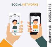 social networks  online dating  ... | Shutterstock .eps vector #1065319946