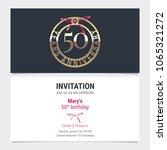 50 years anniversary invitation ... | Shutterstock .eps vector #1065321272