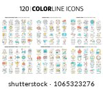 120 color line icons ... | Shutterstock .eps vector #1065323276