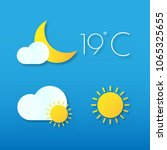 icons of weather  sun  clouds ...   Shutterstock .eps vector #1065325655
