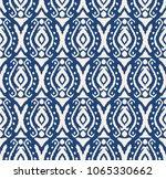 ikat seamless pattern. vector...   Shutterstock .eps vector #1065330662