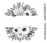 horizontal floral banner with... | Shutterstock .eps vector #1065330815