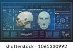 concept of face scanning... | Shutterstock .eps vector #1065330992