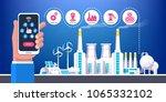 industrial infographic.... | Shutterstock .eps vector #1065332102