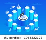 marketing automation concept in ... | Shutterstock .eps vector #1065332126
