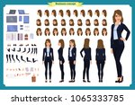 set of businesswoman character... | Shutterstock .eps vector #1065333785
