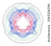 vector guilloche graphics. wavy ... | Shutterstock .eps vector #1065336296