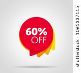 special offer sale red tag... | Shutterstock .eps vector #1065337115