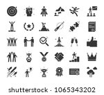 icons related with success ... | Shutterstock .eps vector #1065343202