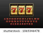 slot machine with lucky seventh ... | Shutterstock .eps vector #1065346478