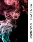 colorful smoke on dark... | Shutterstock . vector #1065347852