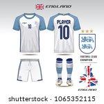 england soccer jersey or team... | Shutterstock .eps vector #1065352115