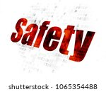 safety concept  pixelated red... | Shutterstock . vector #1065354488