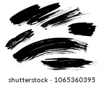 set different grunge brush... | Shutterstock .eps vector #1065360395