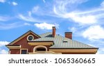 beautiful house roof on the sky ... | Shutterstock . vector #1065360665