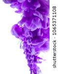 purple dye in water on white... | Shutterstock . vector #1065371108