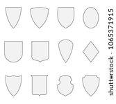 set of shield. vector coat of... | Shutterstock .eps vector #1065371915